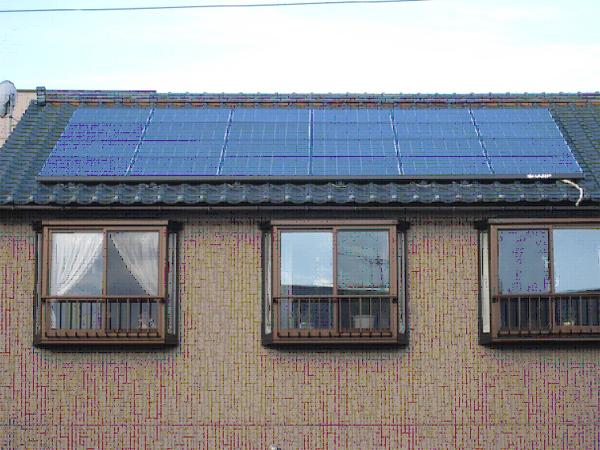 K様邸太陽光発電システム設置例